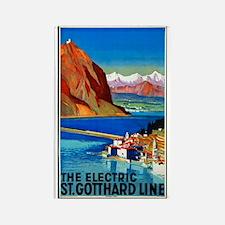 Switzerland Travel Poster 2 Rectangle Magnet