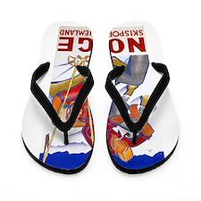 Norway Travel Poster 1 Flip Flops