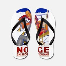 Norway Travel Poster 1 Flip Flops