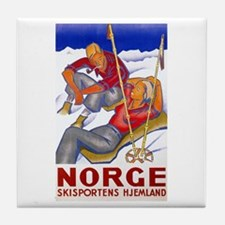 Norway Travel Poster 1 Tile Coaster