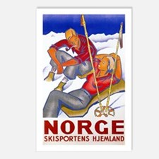 Norway Travel Poster 1 Postcards (Package of 8)
