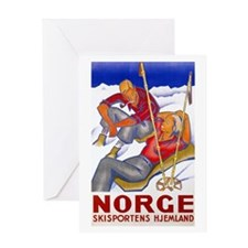 Norway Travel Poster 1 Greeting Card