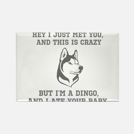 Hey I'm A Dingo T Rectangle Magnet