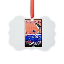Australia Travel Poster 17 Ornament