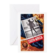 South Africa Travel Poster 3 Greeting Card