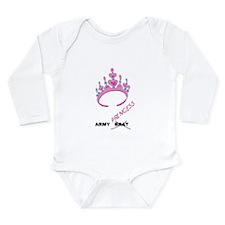 ArmyPrincessTS.png Long Sleeve Infant Bodysuit