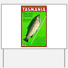 Tasmania Travel Poster 2 Yard Sign
