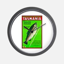 Tasmania Travel Poster 2 Wall Clock