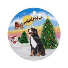 The Take Off & Bernese Mt Dog Ornament (Round)