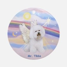 Bichon Frise Angel CUSTOM Ornament (Round)