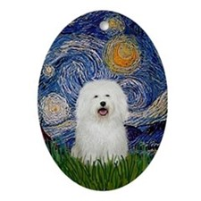 Bolognese Starry Night Keepsake (Oval)