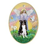 Blessing - Border Collie Ornament (Oval)