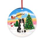 TakeOff1W/ Border Collie Ornament (Round)