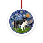 Starry Night / Border Collie Ornament (Round)