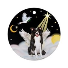 Border Collie Angel in Heaven Ornament (Round)