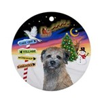 Xsigns-Border Terrier (round) Round Ornament