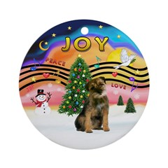 Xmas Music 2 - Border Terrier Ornament (Round)