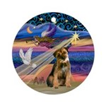 Xmas Star /Border Terrier Ornament (Round)
