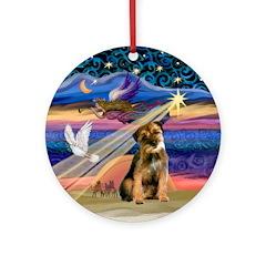 Xmas Star /Border Terrier Ornament (Round)