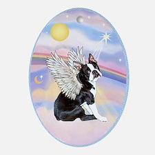 Boston Terrier Angel Ornament (Oval)