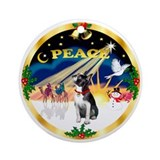 Boston terrier christmas ornaments Round Ornaments