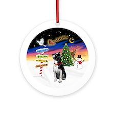 Xmas Signs - Boston Terrier Ornament (Round)