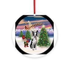 Take Off2/Boston Terrier (#1) Ornament (Round)
