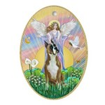 Blessings - Boxer (cropped ears) Ornament (Oval)