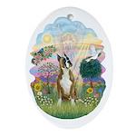 Cloud Angel - Boxer #1 (cr) Ornament (Oval)