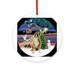 Xmas Magic Boxer (Crpd) Ornament (Round)