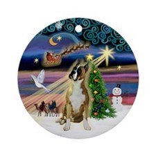 Xmas Magic Boxer (Crpd) Ornament (Round)