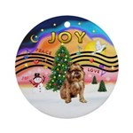 Xmas Music2-Brussels Griffon (rd) Ornament (Round)