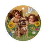 Angels & Brussels Griffon Ornament (Round)