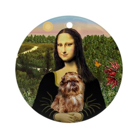 Mona's Brussels Griffon Ornament (Round)