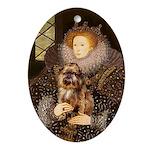 The Queen & Her Brussels Griffon Keepsake (Oval)