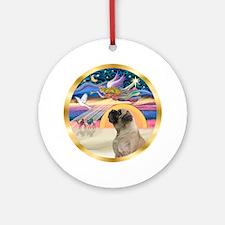 Xmas Star/Bull Mastiff Ornament (Round)
