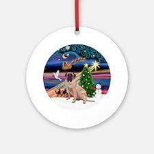 Xmas Magic & Bull Mastiff Ornament (Round)