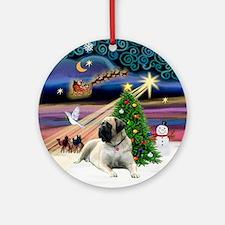 Bull Mastiff Xmas Magic Ornament (Round)