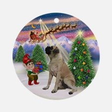 Bull Mastiff Christmas Tree Ornament (Round)