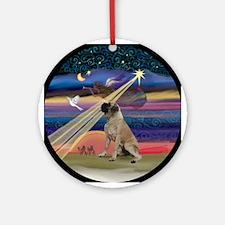 Christmas Star & Bull Mastiff Ornament (Round)