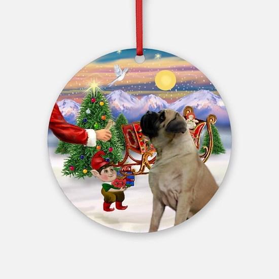 Santa's Treat for his Mastif Ornament (Round)