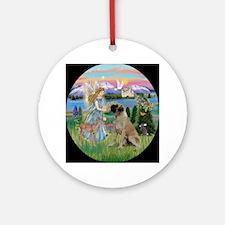 Garden Angel & Bull Mastiff Keepsake (Round)