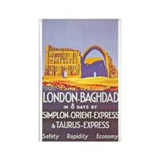Iraq Travel Poster 1 Rectangle Magnet