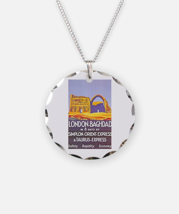Iraq Travel Poster 1 Necklace