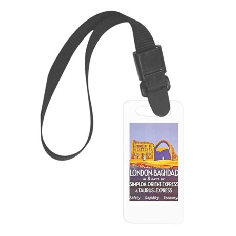 Iraq Travel Poster 1 Small Luggage Tag