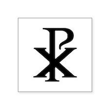 """Chi Rho"" Square Sticker 3"" x 3"""