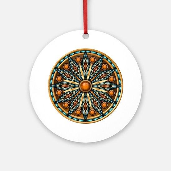 Native American Rosette 07 Ornament (Round)