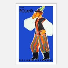 Poland Travel Poster 4 Postcards (Package of 8)