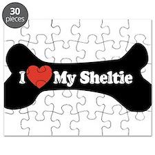 I Love My Sheltie - Dog Bone Puzzle