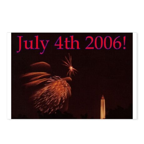 July 4th Fireworks Postcards (Package of 8)